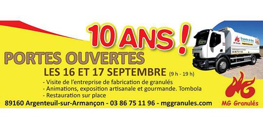 Porte ouverte pour les 10 ans de MG Granulés.